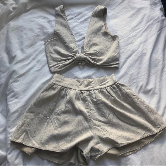 Windsor Dresses & Skirts - Cream Linen matching set
